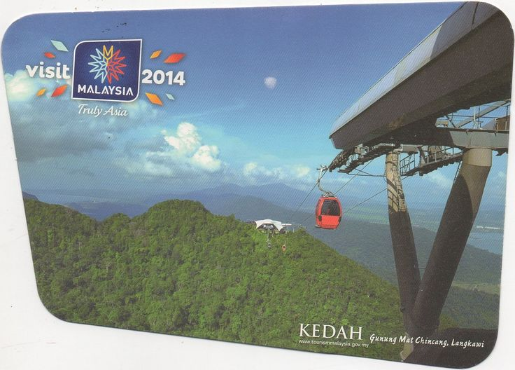 MYS-27047 - Arrived: 2017.08.08   ---   The Langkawi Cable Car is one of the major attractions in Langkawi Island, Kedah, Malaysia. It provides an aerial link from the Oriental Village at Teluk Burau to the peak of Gunung Machinchang, which is also the location of the Langkawi Sky Bridge. The total length is 2.2 km, with a journey time from the base to the top of around 15 minutes. It was officially opened in 2003.
