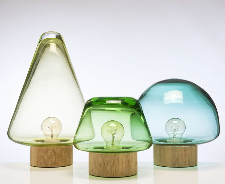 Skog lamps by caroline olsson in collaboration with magnor glassverk