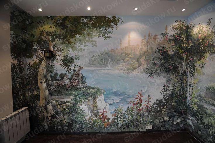 Роспись стен детская комната