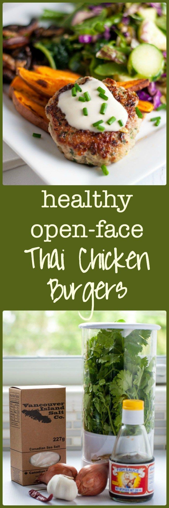... open-face burger with a side salad to make a paleo and gluten-free