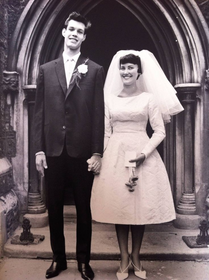 """""""My grandma recently went into care due to Parkinson's and Alzheimer's. Last week when we were clearing the house that we all grew up in, we found this amazing picture. Her 1960s wedding in London."""""""