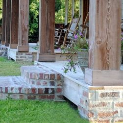 Rustic Front Porch Railings and Posts | all porches face the front of the property and the residence s front ...