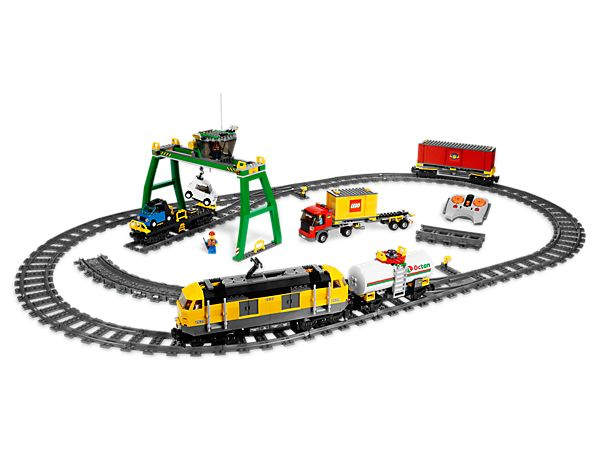 Load up the new Cargo Train and send it down the line! Use the big crane, with working winch, to load the Cargo Train, then transport the goods with 4-channel, 7-speed infrared remote control! Ages 6+ / 839 Pieces / $180