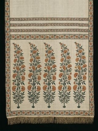 Man's court sash (patka), Indian, Mughal dynasty, ~1700 MFA collection
