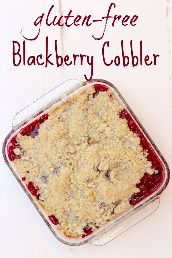 Incredibly FAST Gluten Free Blackberry Cobbler! A delicious multi-seasonal treat, this recipe will knock your socks off!