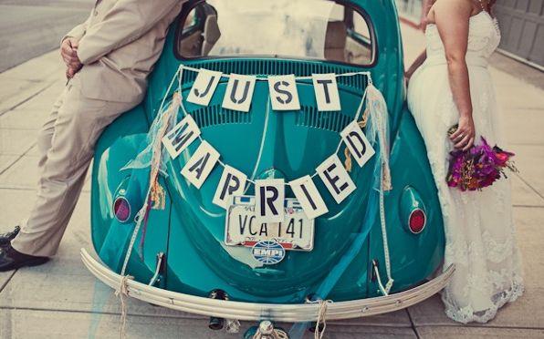 DIY: des idées pour la voiture des mariés