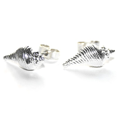 Silver Shell Stud Earrings These pretty handmade little solid Silver Shell Stud Earrings are incredibly cute. Modelled from real shells, they are designed for beach babes and sea goddesses who love anything and everything that reminds them of the ocean. Why not treat yourself?