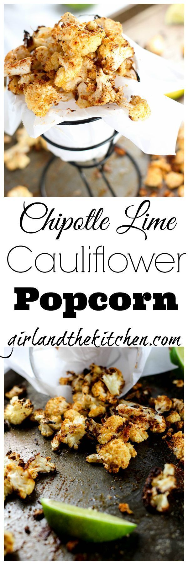 The ultimate movie snack just got healthy! My chili lime oven roasted cauliflower popcorn looks as cute as the original but tastes a heck of a lot better! With subtle citrus notes and a spicy kick this faux popcorn is the perfect couch munch food. All the flavor and none of the guilt=heaven!!!