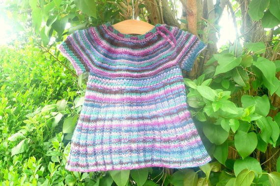Knitting PATTERN Seamless Top Down BABY CHILD Tunic Dress - Iris a top down s...