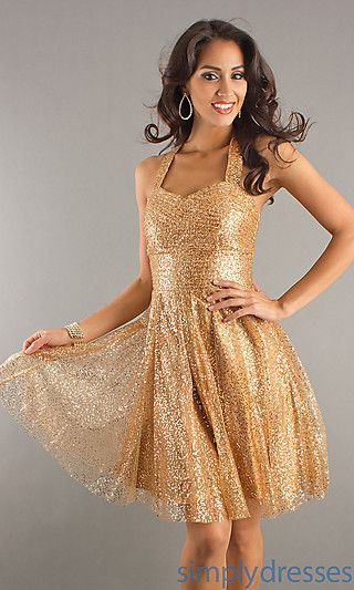 Blush Gold Halter Cocktail Dress 9119 at SimplyDresses.com: Shops, Gold Halter, Cocktail Dresses, Dress 9119, Prom Dresses, Gold Dress