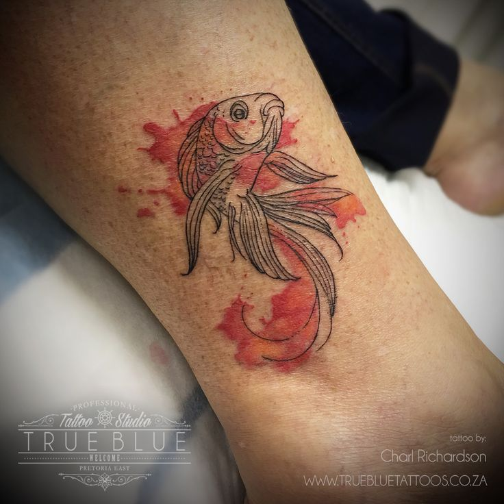"""Fishy-Fish"" by Charl Richardson of True Blue Professional Tattoo Studio"