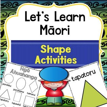 Learn shapes in Maori. Activities for NZ classes ready to print and teachThis pack features - A colour poster that introduces shapes - A B/W poster that introduces shapes- individual colour and b/w posters for each shape - teaching ideas- 7 worksheets - Pictures made of shapes for students to look at and discuss the shapes they can see- Te Reo Maori phrases to use when teaching shapes with printable phrases for displayHave a look at the preview which shows everything that is included…