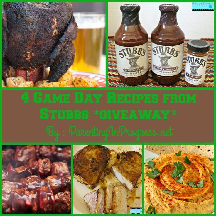 Get ready for #GameDay with 4 #Tailgating recipes from Stubb's BBQ Sauce get the recipes & enter our #Giveaway of a Stubbs Prize Package #ad http://parentinginprogress.net/stubbs/