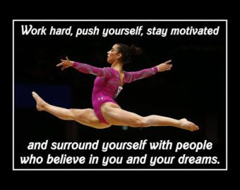 Gymnastics Motivation Simone Biles Gymnast Photo Quote by ArleyArt