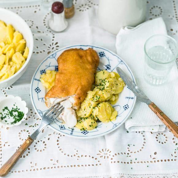 Backfisch, Kartoffelsalat
