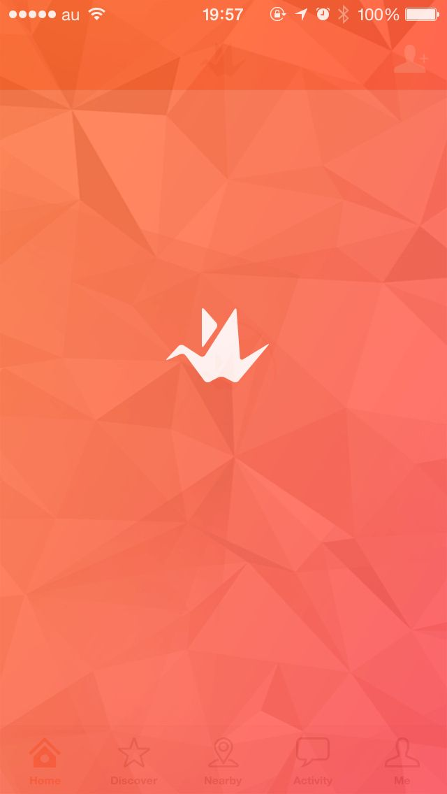 Origami splash screen