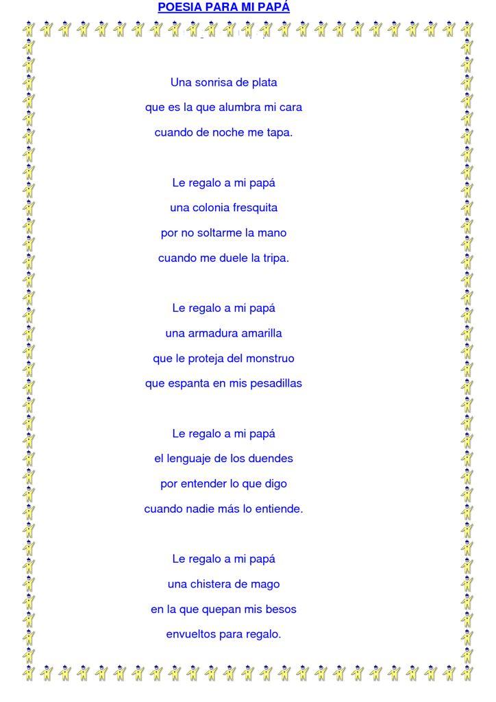 Poesía para papá