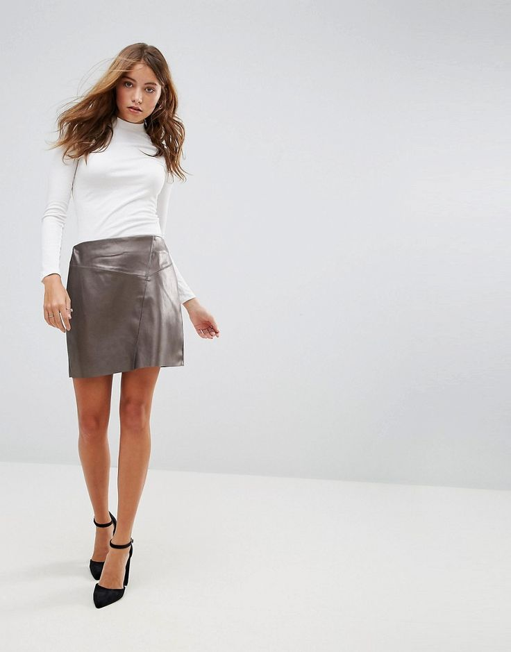 Get this Pimkie's short skirt now! Click for more details. Worldwide shipping. Pimkie Leather Look Mini Skirt - Copper: Mini skirt by Pimkie, Smooth faux leather, Metallic coating, Mid-rise waist, Zip-back fastening, Regular fit - true to size, Machine wash, 100% Polyester, Our model wears a UK 8/EU 36/US 4 and is 173cm/5'8 tall. In 1971, French label Pimkie brought three textiles specialists together to create empowering collections that encourage women to express themselves, and the rest…