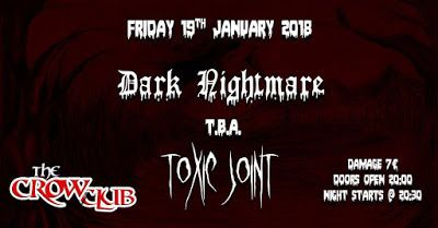 BEHIND THE VEIL WEBZINE: DARK NIGHTMARE/ TBA/ TOXIC JOINT - Live At The Cro...