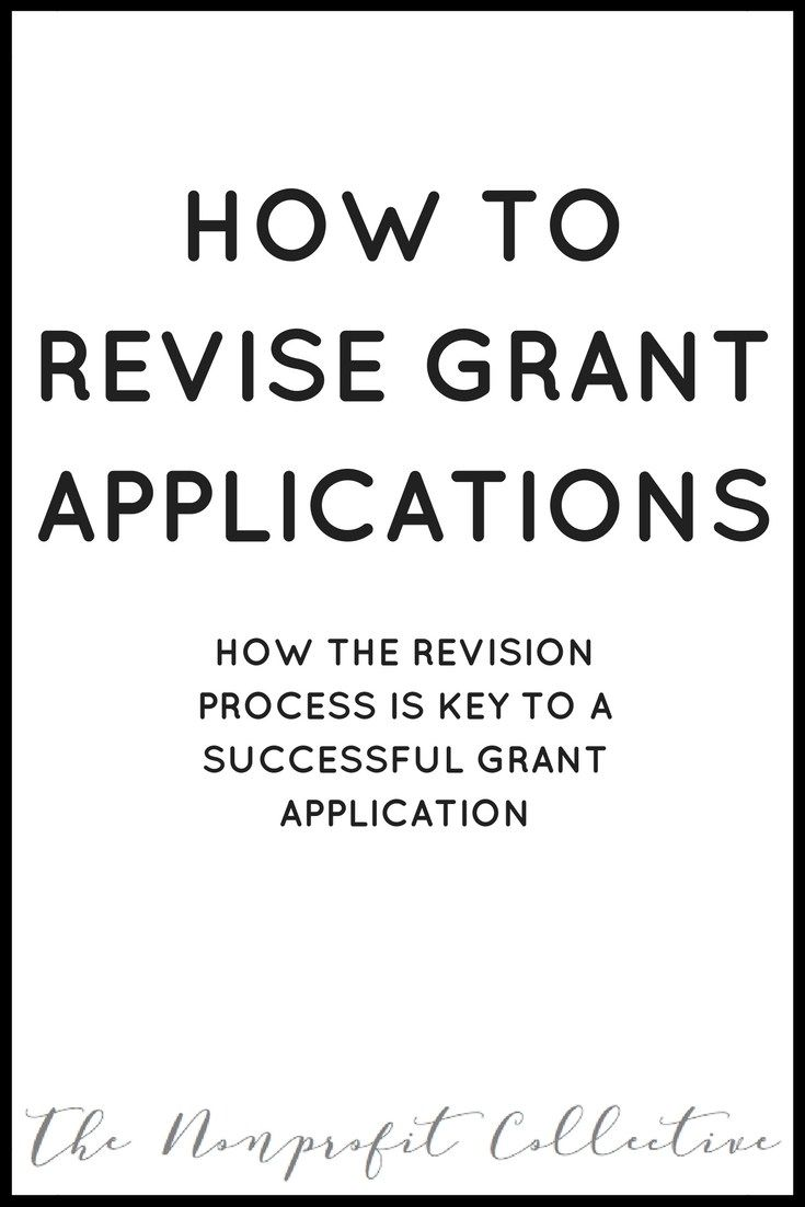 How to Revise Grant Applications: How the Revision Process