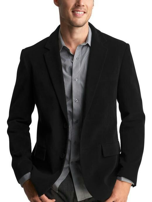 Men's John Blair Year Round Blazer, Black, Size 42 Short. Long Coats & Jackets by Blair. Comes in Black, Size 42 Short. Classic two-button design, tailored in a seasonless oxford weave for fantastic drape and wrinkle resistance.