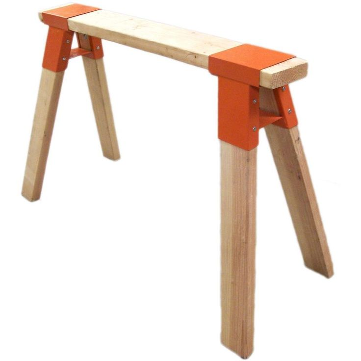 Null super steel sawhorse brackets home the o 39 jays and Sawhorse desk legs