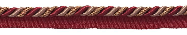 "Medium Burgundy Taupe Baroque Collection 5/16"" Cord with Lip Style# 0516BL Color: CRANBERRY HARVEST – 8612 (Sold by The Yard)"