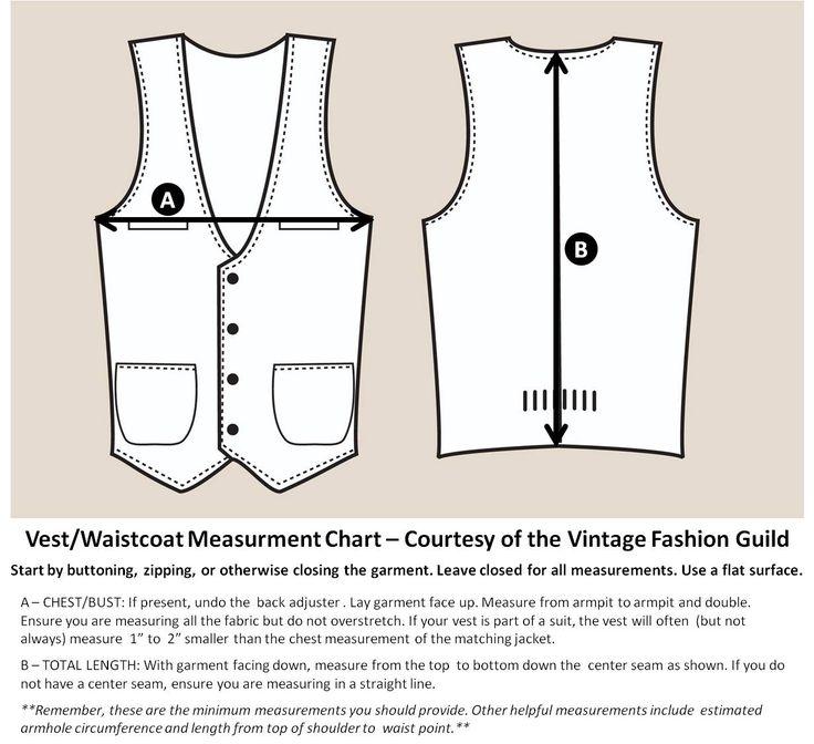 Best Clothing Measurements Images On   Fashion Vintage