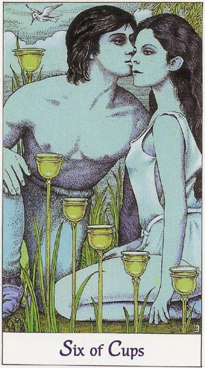 six of cups tarot cards