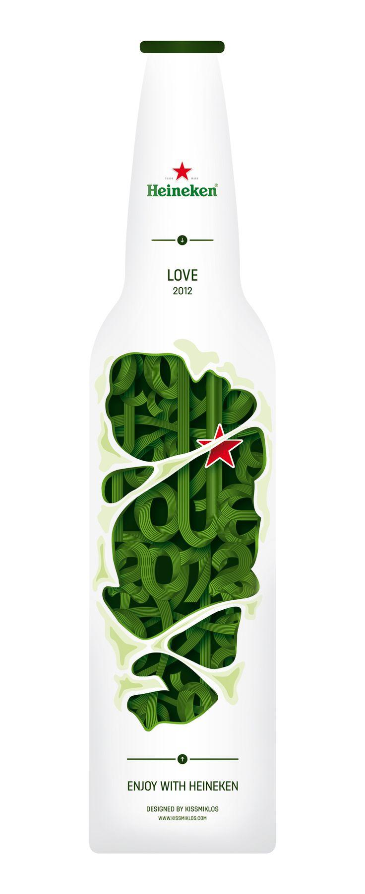 Heineken bottle concept | Designer:: Heineken Bottle, Beer Packaging, Bottle Packaging, Beer Bottle, Packaging Design Inspiration, Design Concept, Beer Design, Behance Network, Bottle Design