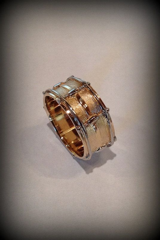 14k Snare Drum Ring by LeaFloriaJewellery on Etsy