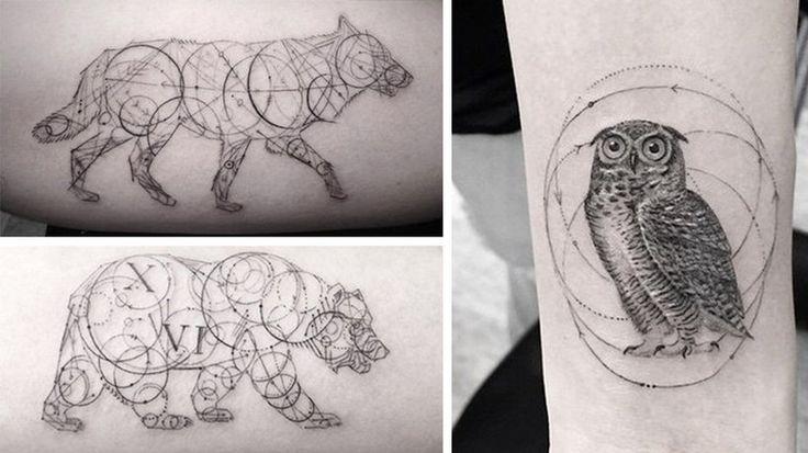 Świetne pomysły na geometryczne tatuaże. Zobacz! - Na luzie