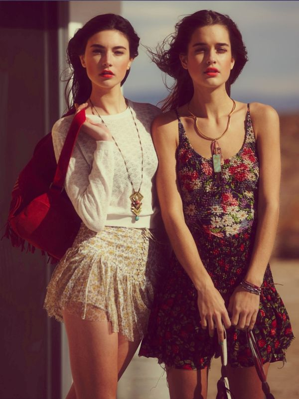 : Red Lips, Vintage Floral, Mixed Prints, Summer Skirts, People April, Girls Outfits, Free People, Girls Fashion, The Mode