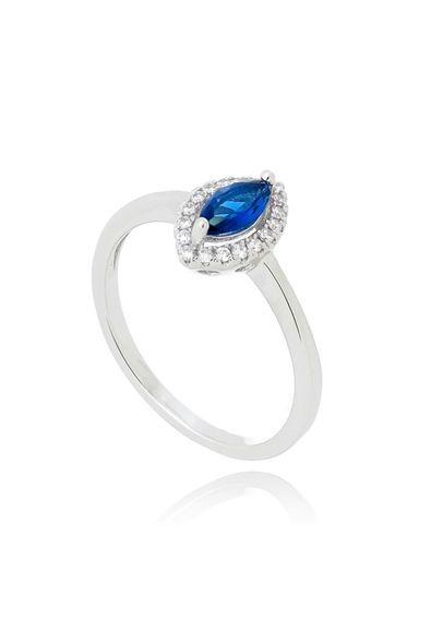 85a6edd316caa Anel-lapidacao-princesa-zirconia-azul-safira-semi-joia---14   Aneis    Pinterest   Semi joias, Safira e Anéis