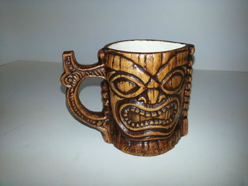 Original Kona Coffee Mill Vintage Mug Tiki Hawaii Cup Faux Wood Original Sticker | eBay