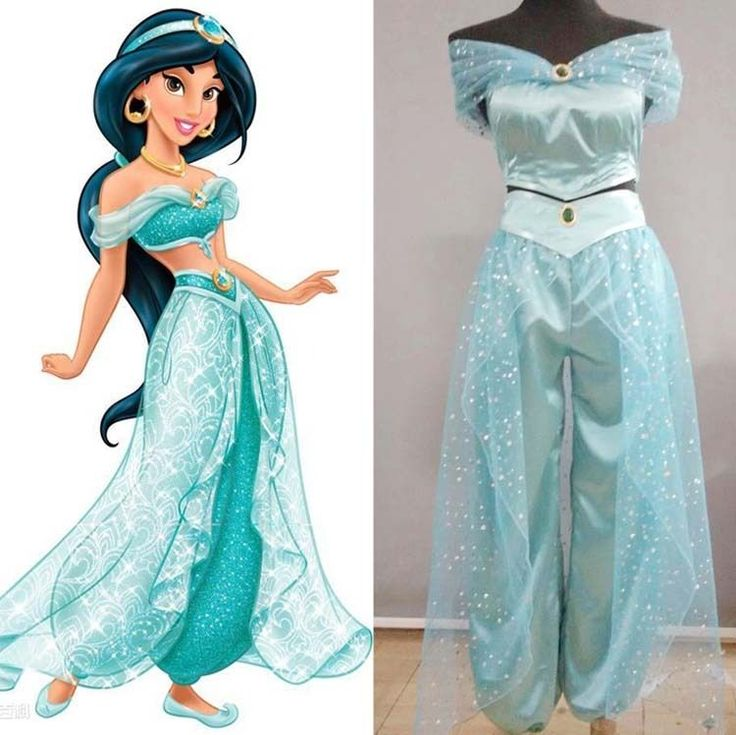 Aladdin Jasmine Princess disney Cosplay Costume for Adult Custom made costume  #Yuehong #Dress
