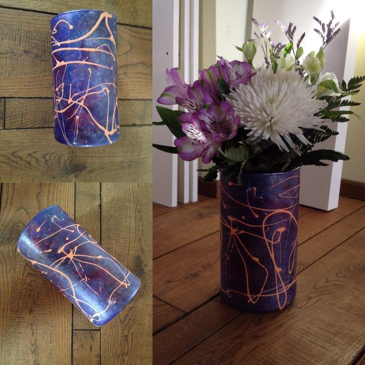 Crystal vase hand made decoration - decorated by Petr Jáchym