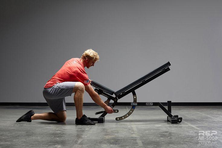 Rep ab5000 zero gap adjustable bench garage gym weight