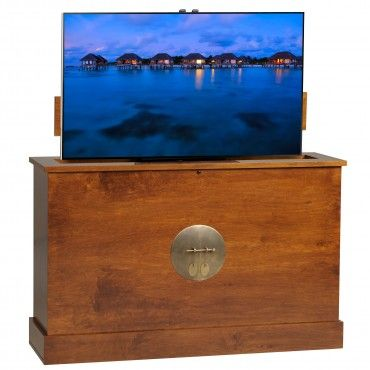 sunrise 360 degree swivel in michaels finish tv lift cabinet tv lift cabinets for end of bed