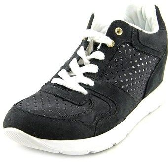 GUESS Laceyy3 Women Canvas Black Fashion Sneakers.