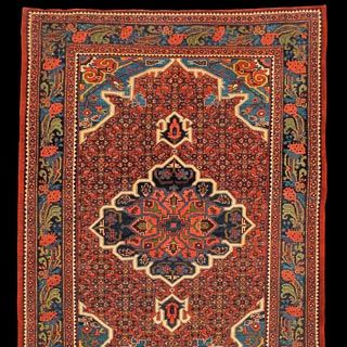 Bidjar rug. Find this and other antique rugs and textiles at CuratorsEye.com.
