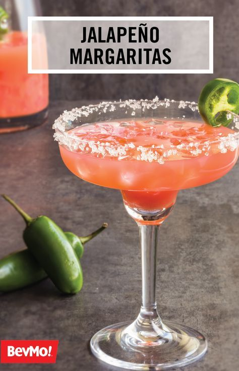 Salty, sweet, and oh-so refreshing, this Jalapeño Margarita recipe has your summer party written all over it! Try out this delicious flavor combination of strawberries, tequila, and triple-sec from BevMo! out at your next outdoor get-together—your friends are sure to thank you.