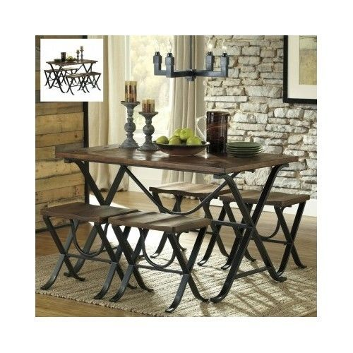 Dining-Room-Set-Furniture-Rustic-Kitchen-Table-Stools-5-Piece-Contemporary-Wood