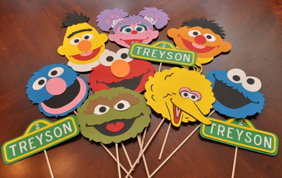 Sesame Street Birthday Party Decorations by DesignsByDodi on Etsy, $38.00