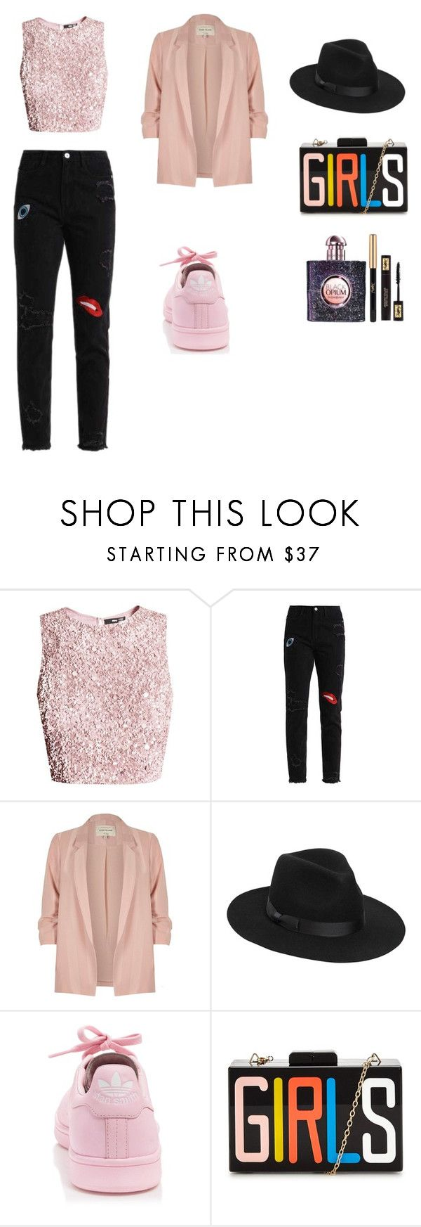 """""""Girlie stuff"""" by ustine on Polyvore featuring moda, River Island, Lack of Color, adidas i Yves Saint Laurent"""