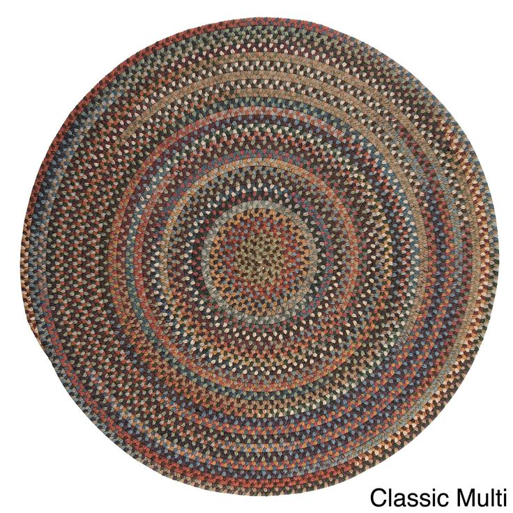 Colonial Mills Forester Multicolored Wool Braided Rug USA Made (5' Round) (Classic Multi), Size 5' x 5'