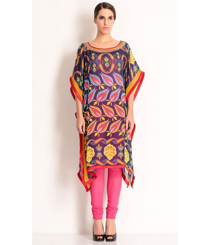 Manish Arora Multi Colored Kaftan With Large Prints., http://www.snapdeal.com/product/manish-arora-multi-cotton-kaftan/988330647