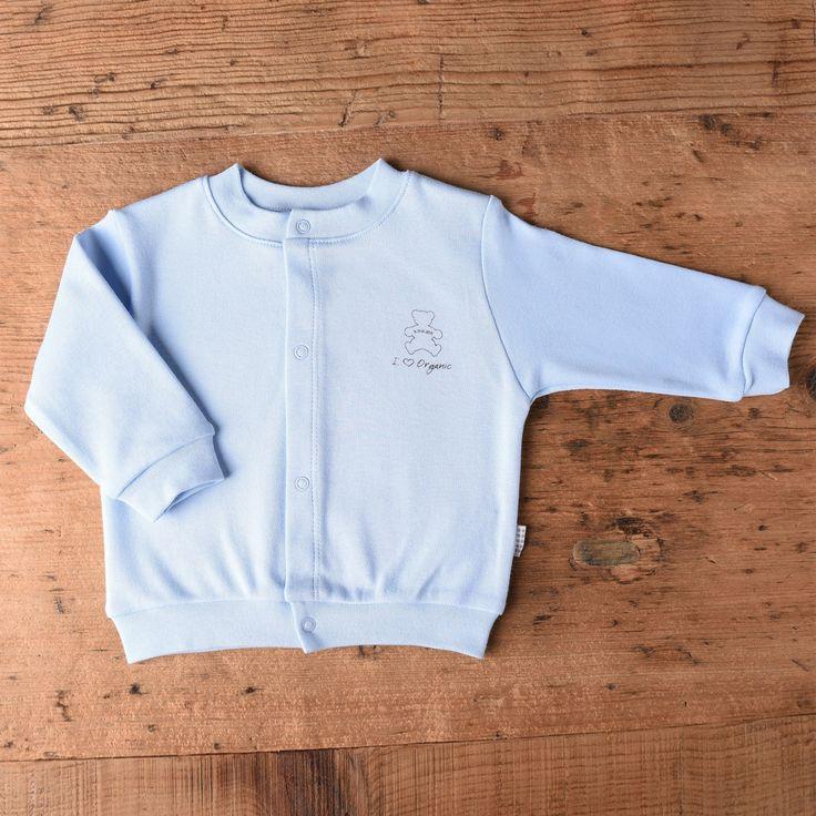 %100 Organic Baby Boy Blue Cardigan --> Organic Baby Boy Cardigan, Strickjacke, 가디건