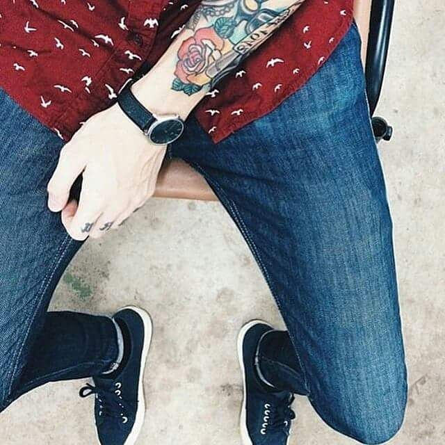 Look of the day for him! #superga #supergagreece #fashion #style #menswear #tattoo #lookoftheday