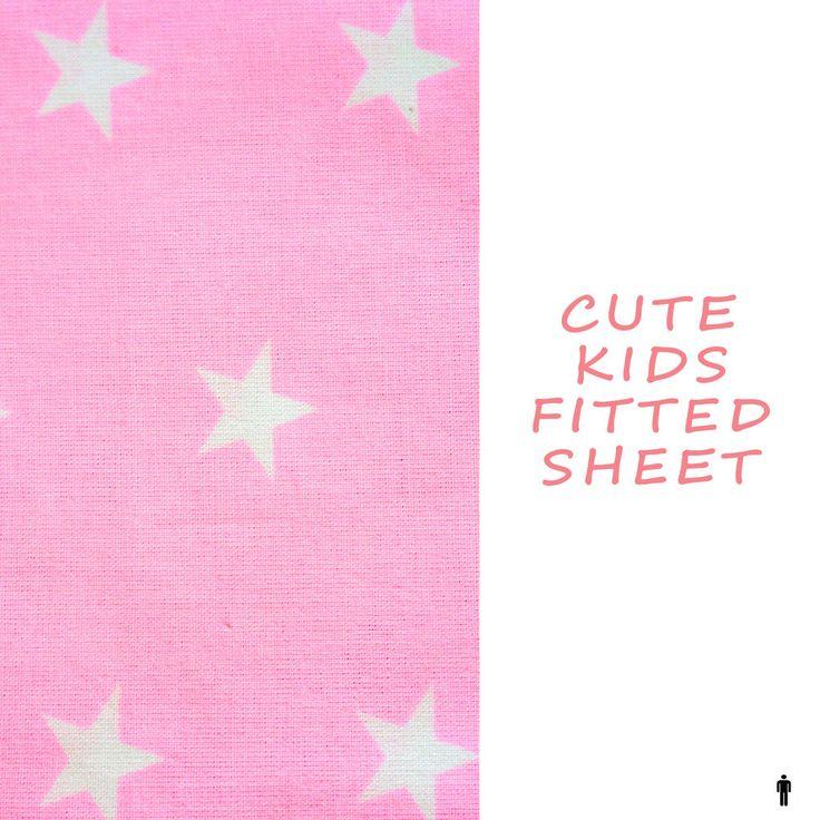 Kids Fitted Sheets Girls Boys, 100% Cotton, Children Bedding By Pink & Stars   | eBay